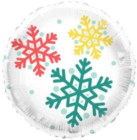 18 inch Tuf-Tex Feelin Festive Snowflake Foil Balloon - Pkg