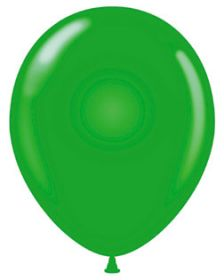 9 inch Standard Green Tuf-Tex Latex Balloons - 100 count