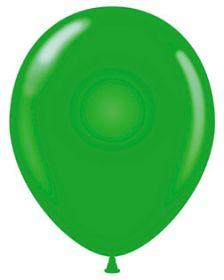 17 inch Tuf-Tex Standard Green Latex Balloons - 50 count