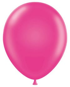 17 inch Tuf-Tex Hot Pink Latex Balloons - 50 count