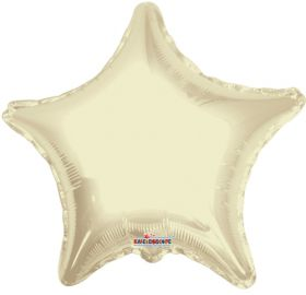 18 inch Ivory Star Foil Balloons