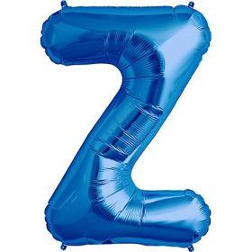 34 inch Kaleidoscope Blue Letter Z Foil Balloon