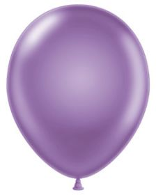 11 inch Tuf-Tex Pearl Lilac Latex Balloons - 100 count