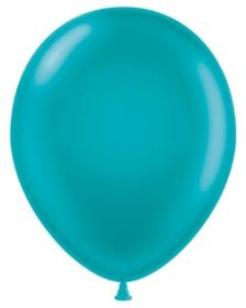 11 inch Tuf-Tex Teal Latex Balloons - 100 count