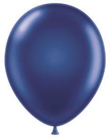 11 inch Tuf-Tex Metallic Midnight Blue Latex Balloons - 100 count