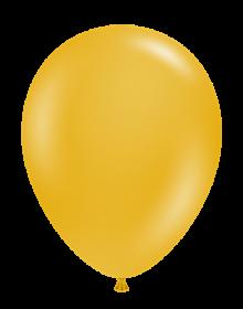 17 inch Tuf-Tex Mustard Latex Balloons - 50 count