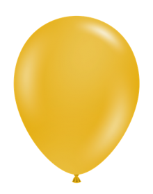 24 inch Tuf-Tex Mustard Latex Balloons - 25 count