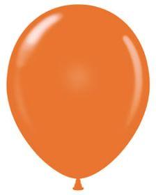 9 inch Standard Orange Tuf-Tex Latex Balloons - 100 count