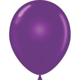 17 inch Tuf-Tex Plum Purple Latex Balloons - 50 count