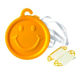 8 Gram Premium Ribbon Weight Balloon Weight Yellow Smiley Face - 50 count