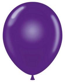 11 inch Tuf-Tex Crystal Purple Latex Balloons - 100 count