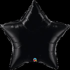 Qualatex 36 inch Black Star Foil Balloons