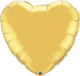 Qualatex 36 inch Gold Heart Foil Balloons
