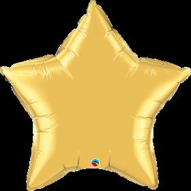 Qualatex 36 inch Gold Star Foil Balloons