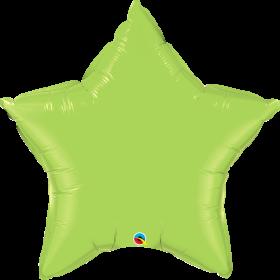 Qualatex 36 inch Lime Green Star Foil Balloons