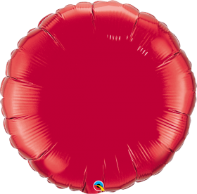 Qualatex 36 inch Red Circle Foil Balloons