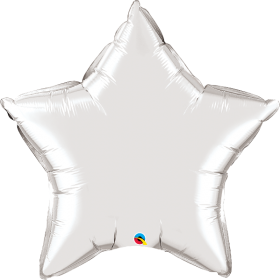 Qualatex 36 inch Silver Star Foil Balloons