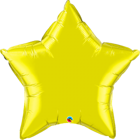 Qualatex 36 inch Citrine Yellow Star Foil Balloons