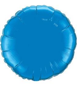 18 inch Sapphire Blue Circle Foil Balloons