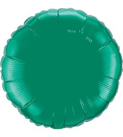 18 inch Emerald Green Circle Foil Balloons