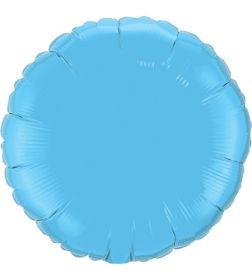 18 inch Light Blue Circle Foil Balloons