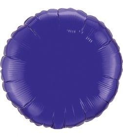 18 inch Purple Circle Foil Balloons
