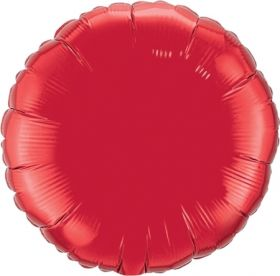 18 inch Red Circle Foil Balloons