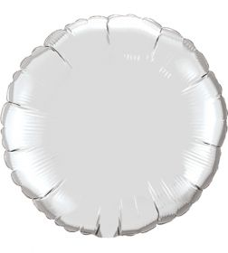 18 inch Silver Circle Foil Balloons