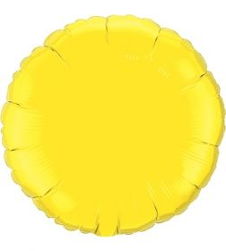 18 inch Yellow Circle Foil Balloons