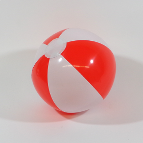 16 inch Red White Beach Balls (11 inch inflated diameter)