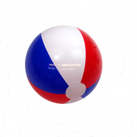 12 inch Red White Blue Beach Ball (8 inch inflated diameter)
