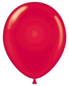 11 inch Tuf-Tex Crystal Red Latex Balloons - 100 count
