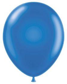 11 inch Tuf-Tex Metallic Blue Latex Balloons - 100 count
