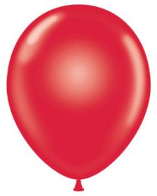 24 inch Tuf-Tex Standard Red Latex Balloons - 25 count