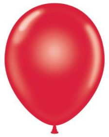17 inch Tuf-Tex Standard Red Latex Balloons - 50 count