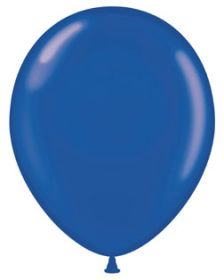 24 inch Tuf-Tex Crystal Sapphire Blue Latex Balloons - 25 count