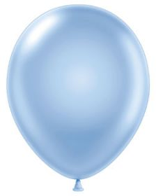11 inch Tuf-Tex Pearl Sky Blue Latex Balloons - 100 count