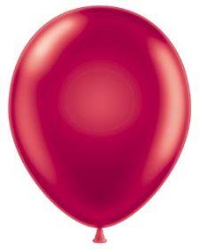 11 inch Tuf-Tex Metallic Starfire Red Latex Balloons - 100 count