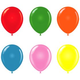 11 inch Tuf-Tex Assorted Standard Latex Balloons - 100 count