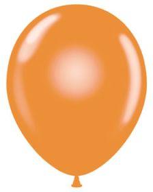 11 inch Tuf-Tex Crystal Tangerine Latex Balloons - 100 count