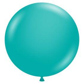 36 inch Tuf-Tex Teal Latex Balloon