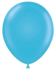 11 inch Tuf-Tex Turquoise Latex Balloons - 100 count