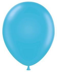 5 inch Tuf-Tex Turquoise Latex Balloons - 50 count