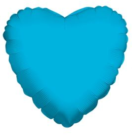 18 inch Turquoise Heart Foil Balloons