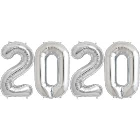 34 inch Silver Foil 2020 Number Balloon Set