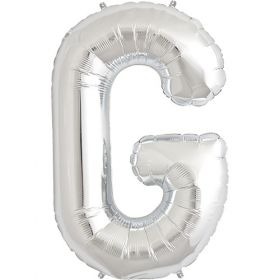 34 inch Silver Letter G Foil Mylar Balloon