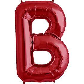 34 inch Red Letter B Foil Mylar Balloon