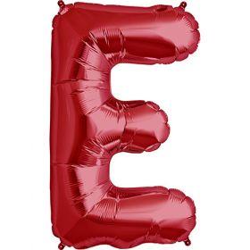 34 inch Red Letter E Foil Mylar Balloon