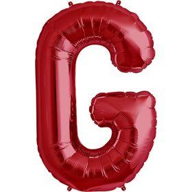 34 inch Red Letter G Foil Mylar Balloon