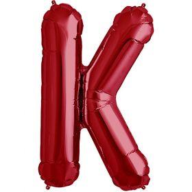 34 inch Red Letter K Foil Mylar Balloon